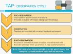 tap observation cycle