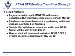 afwa spp product transition status 3