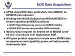 eos data acquisition