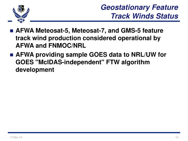 Geostationary Feature
