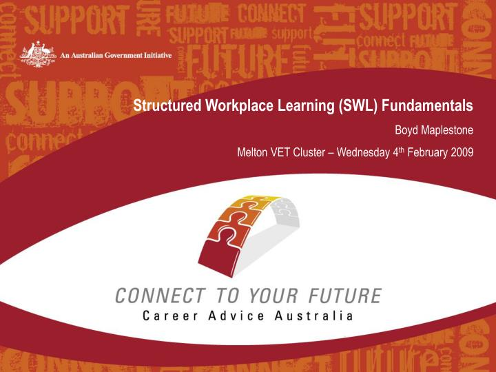 Structured Workplace Learning (SWL) Fundamentals
