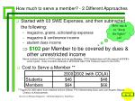 how much to serve a member 2 different approaches