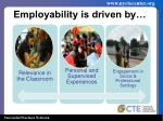 employability is driven by
