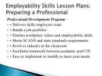 employability skills lesson plans preparing a professional