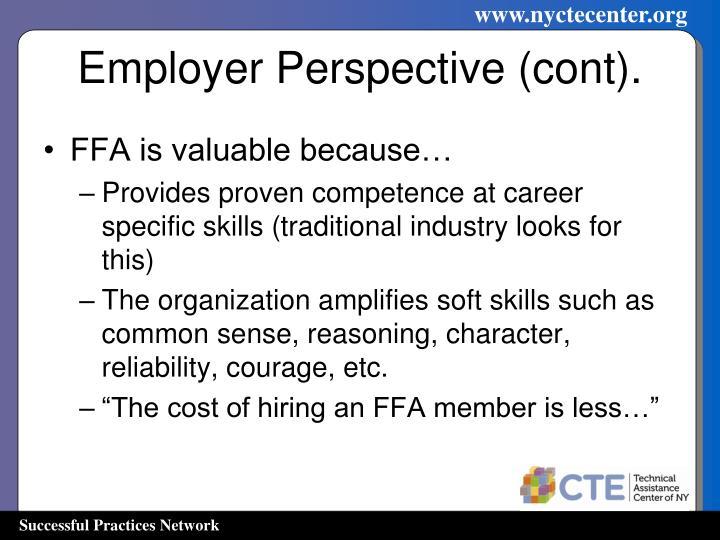 Employer Perspective (