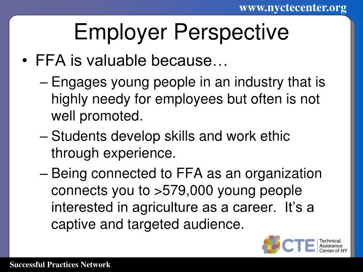 Employer Perspective