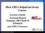 how fbla helped me in my career