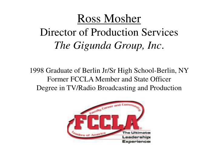 Ross Mosher