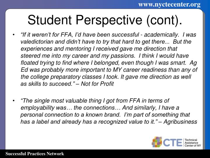 Student Perspective (