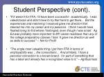 student perspective cont