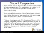 student perspective