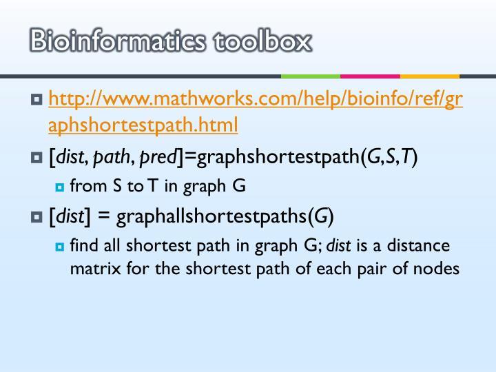 Bioinformatics toolbox
