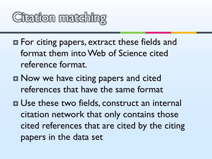 Citation matching