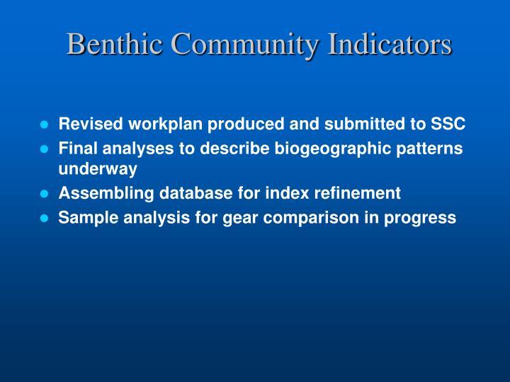 Benthic Community Indicators
