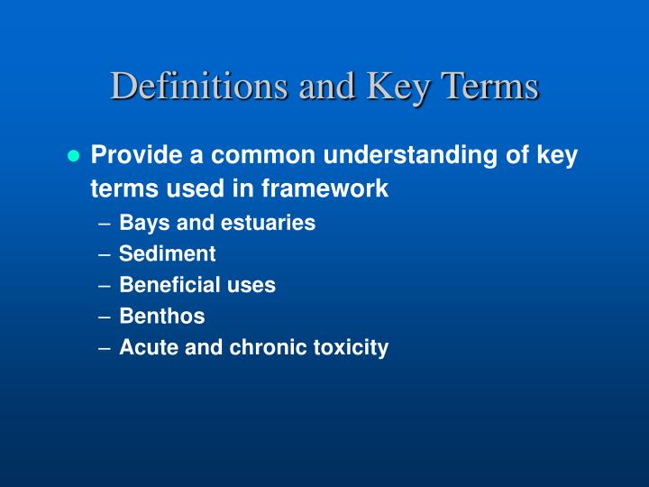 Definitions and Key Terms