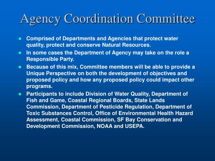 Agency Coordination Committee