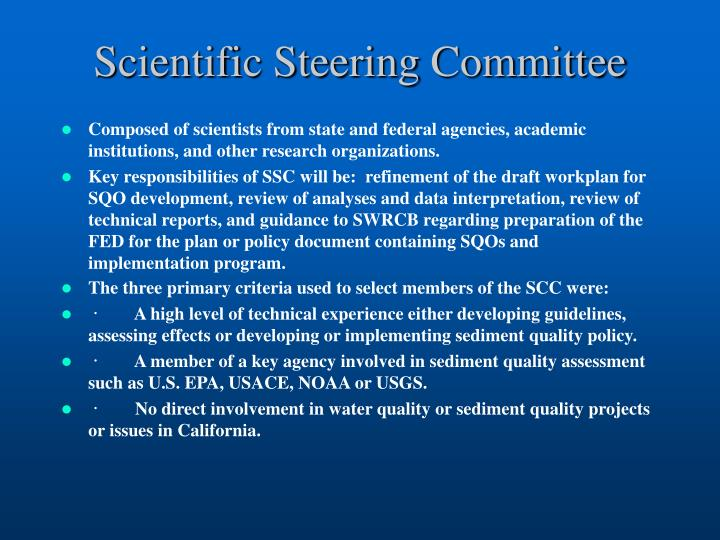 Scientific Steering Committee