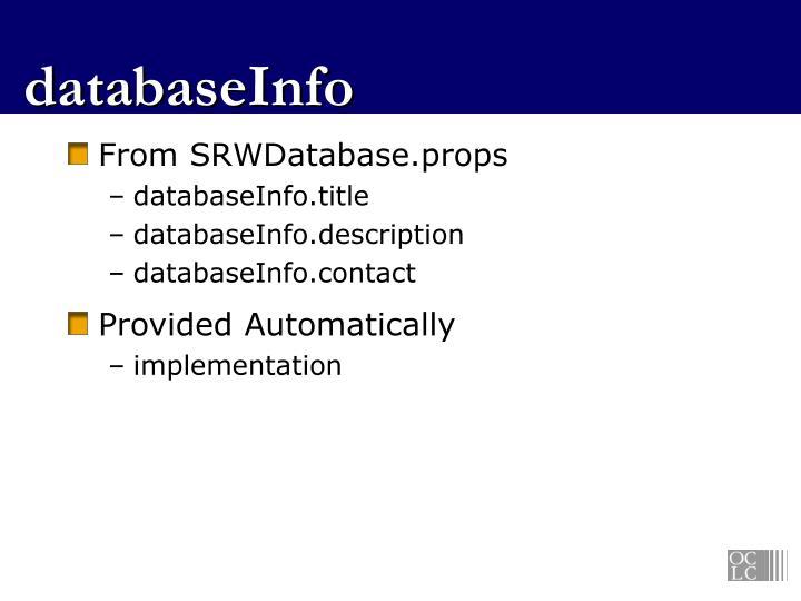 databaseInfo