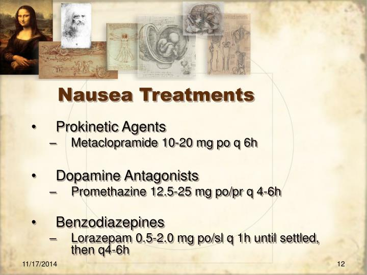 Nausea Treatments
