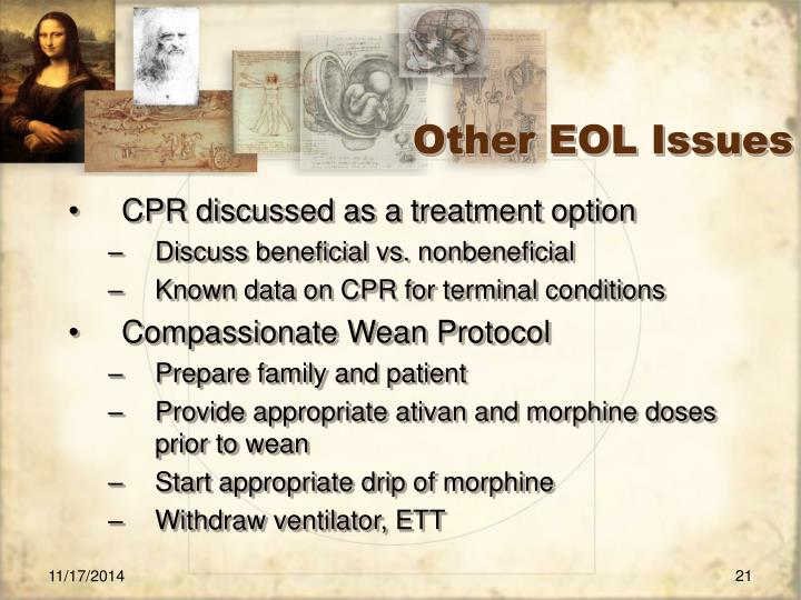 Other EOL Issues