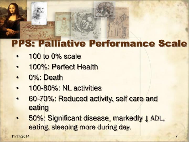 PPS: Palliative Performance Scale