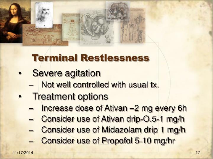 Terminal Restlessness