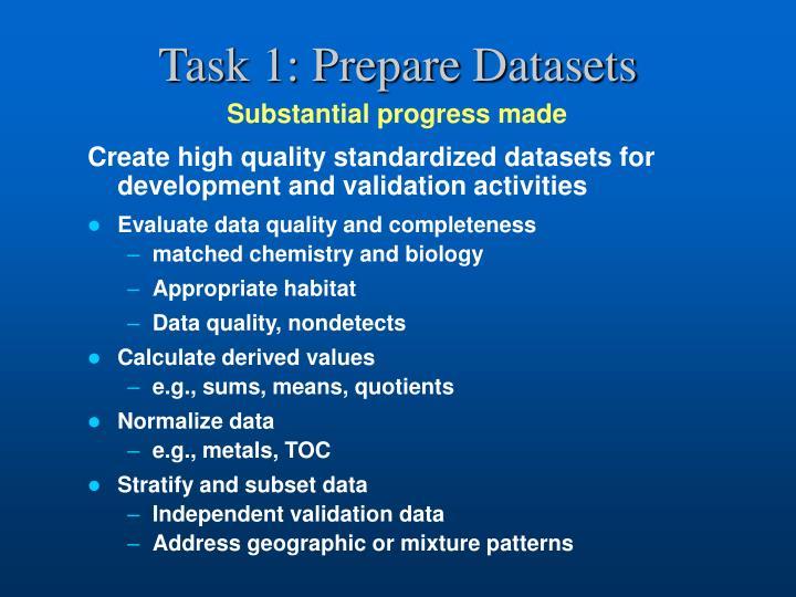 Task 1: Prepare Datasets