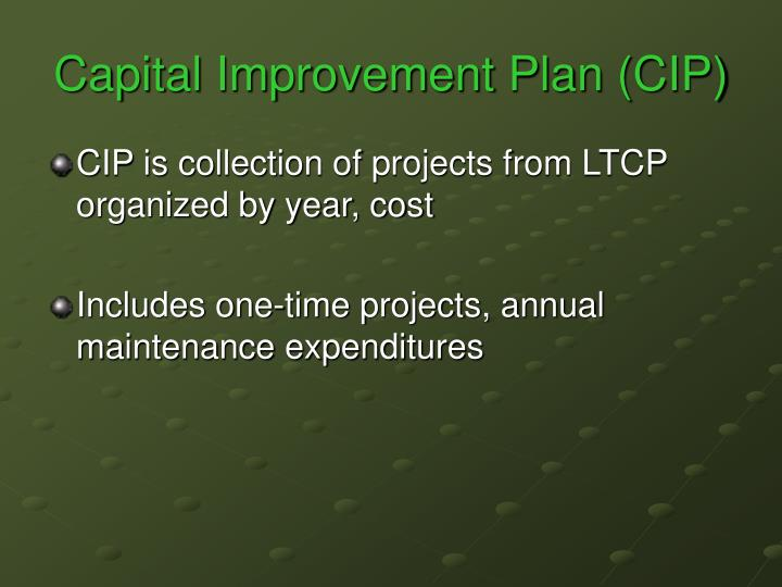 Capital Improvement Plan (CIP)