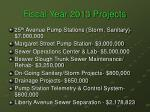 fiscal year 2013 projects