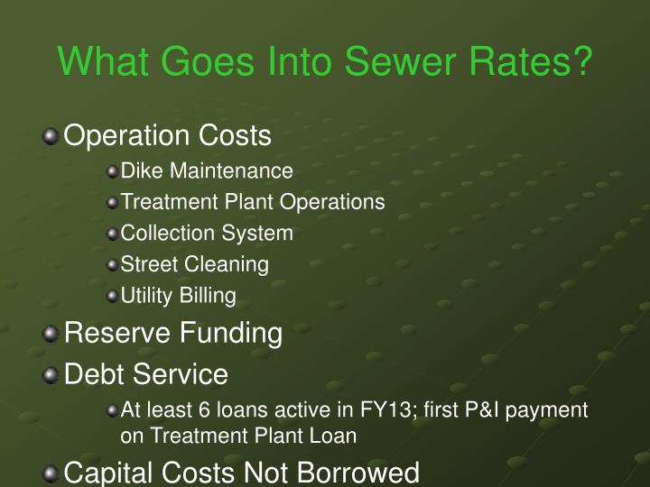 What Goes Into Sewer Rates?