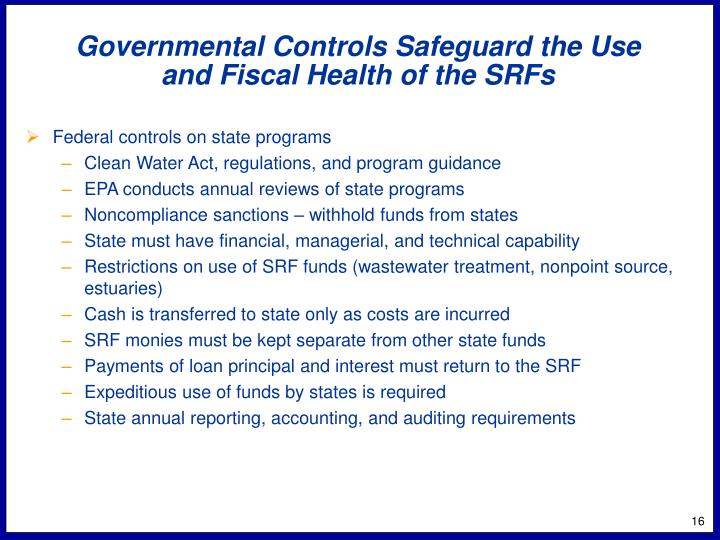 Governmental Controls Safeguard the Use