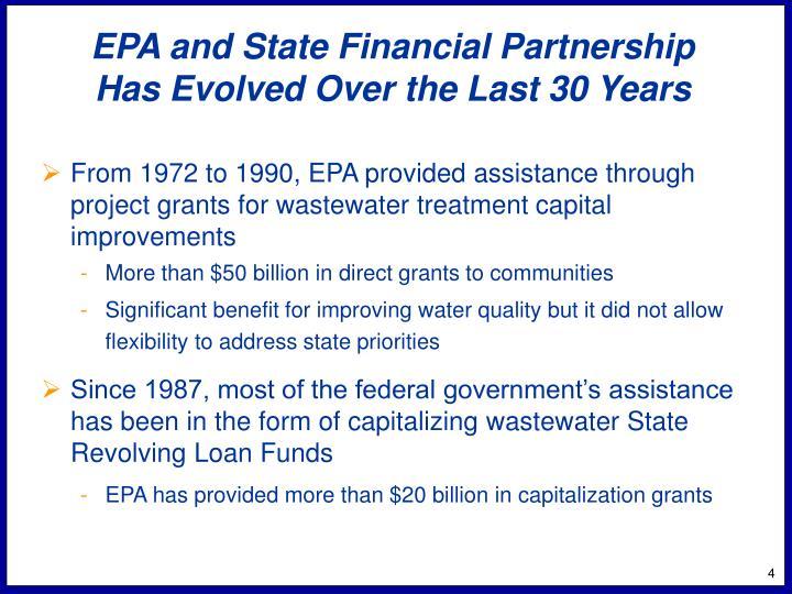 EPA and State Financial Partnership