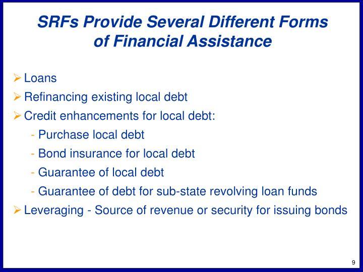 SRFs Provide Several Different Forms
