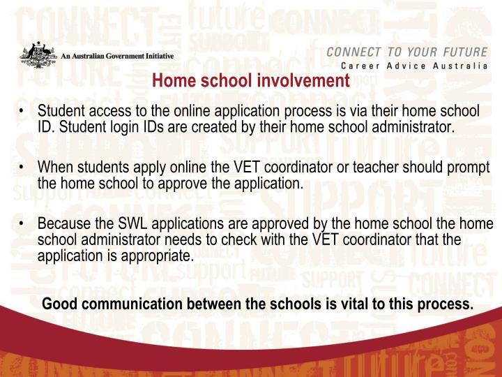 Home school involvement