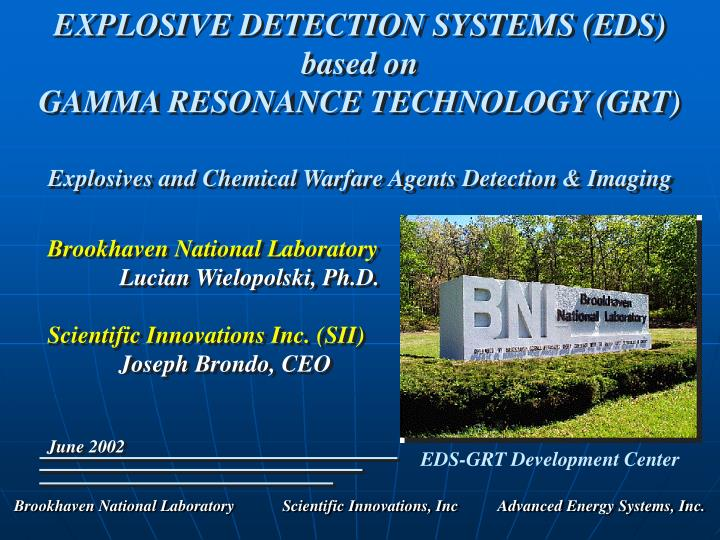 EXPLOSIVE DETECTION SYSTEMS (EDS)