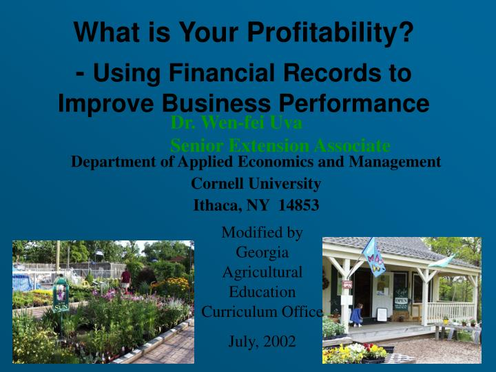 What is Your Profitability?