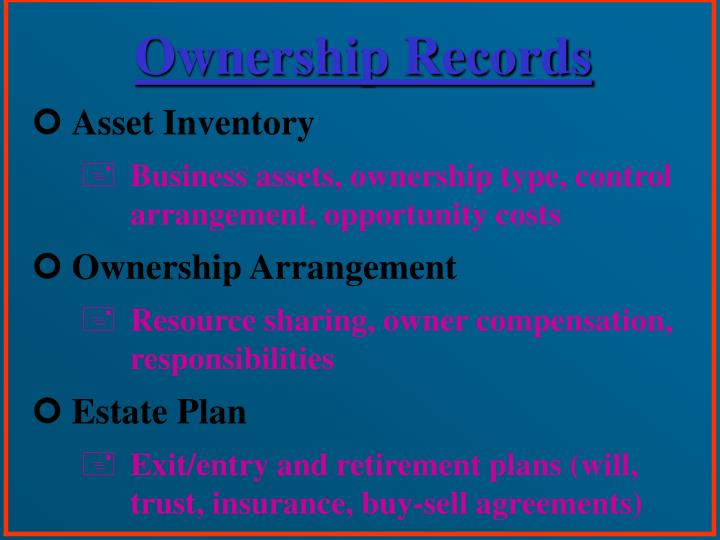 Ownership Records