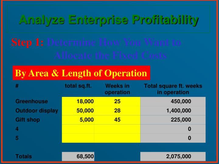 Analyze Enterprise Profitability