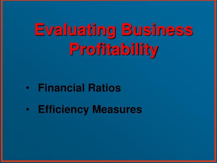 Evaluating Business Profitability