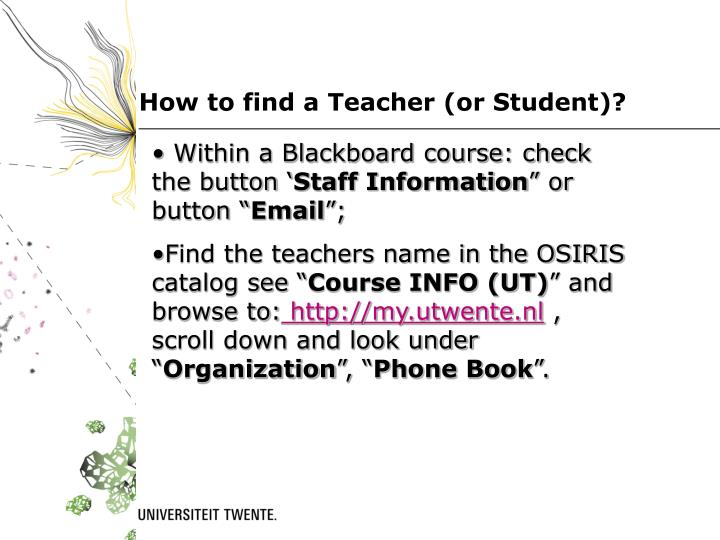 How to find a Teacher (or Student)?