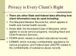 privacy is every client s right