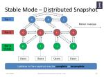 stable mode distributed snapshot