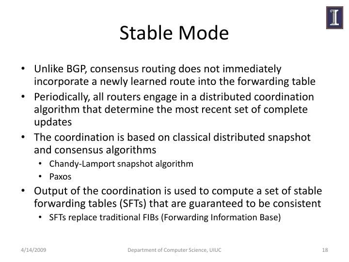 Stable Mode