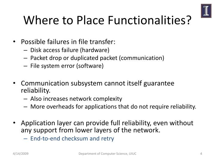 Where to Place Functionalities?