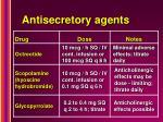 antisecretory agents