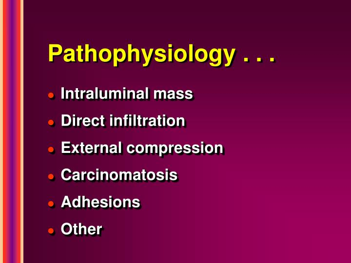 Pathophysiology . . .