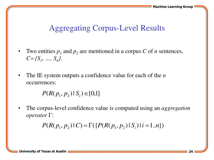 Aggregating Corpus-Level Results