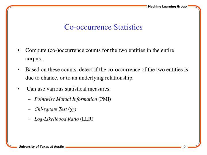 Co-occurrence Statistics