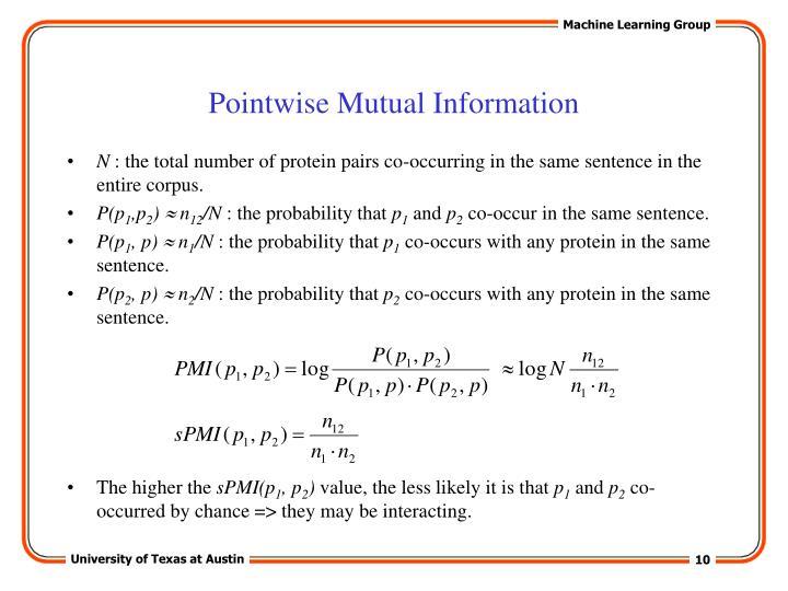 Pointwise Mutual Information