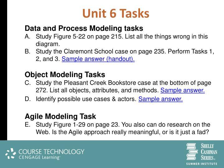 Unit 6 Tasks
